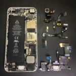 iPhone5の水没修理事例
