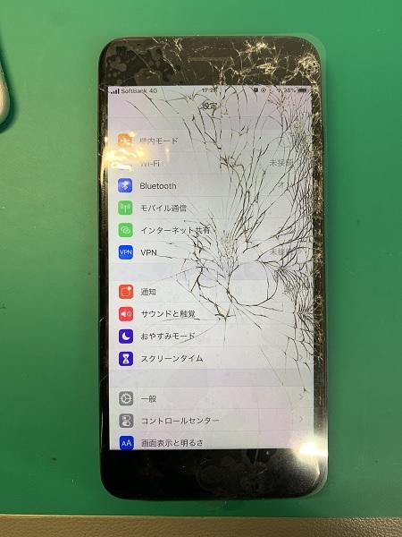 iphone7p 画面割れ
