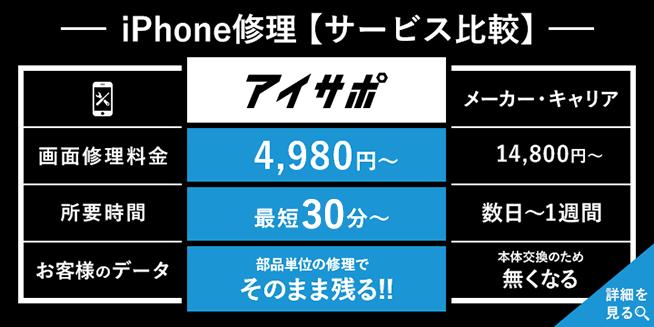 iPhone修理サービス比較