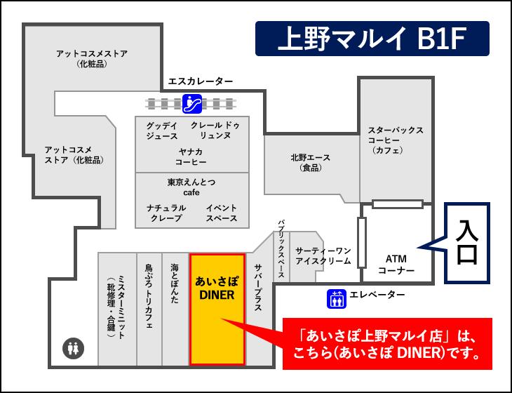上野マルイ店フロアマップ