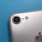インスタ映えには重要!カメラのガラスレンズが破損したiPhone7。