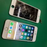 iPhone6Sの画面割れ(ガラス交換)修理で泉南市よりご来店頂きました【iPhone修理アイサポ岸和田カンカンベイサイドモール店】