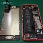 iPhone5Cの水没復旧の為に泉佐野よりご来店下さいました。